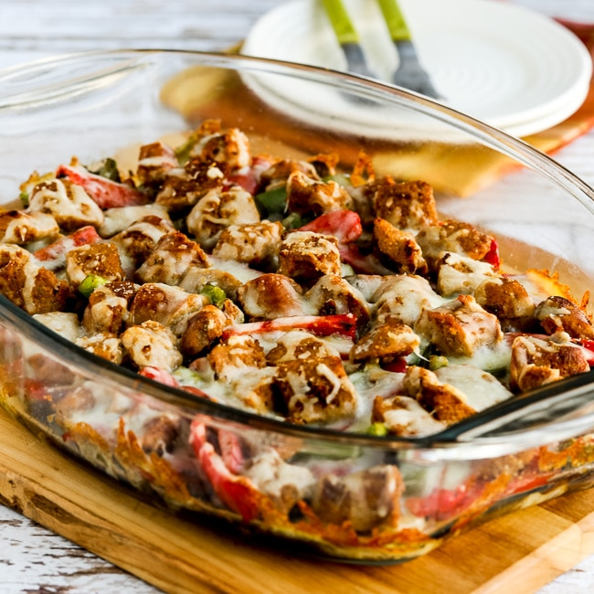 Sausage, Peppers, and Mushrooms Low-Carb Cheesy Bake thumbnail photo