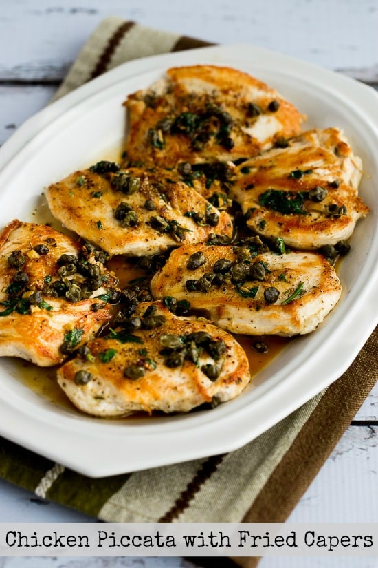 Chicken Piccata with Fried Capers found on KalynsKitchen.com