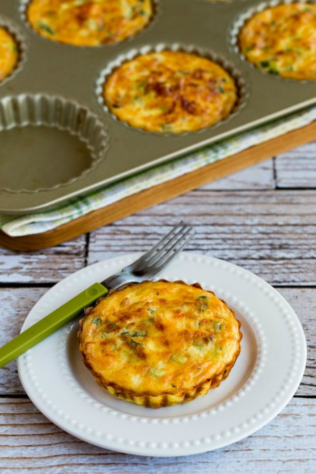 Crustless Breakfast Tarts with Asparagus and Goat Cheese