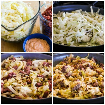 Leftover Corned Beef Low-Carb Reuben Bake [found on KalynsKitchen.com]