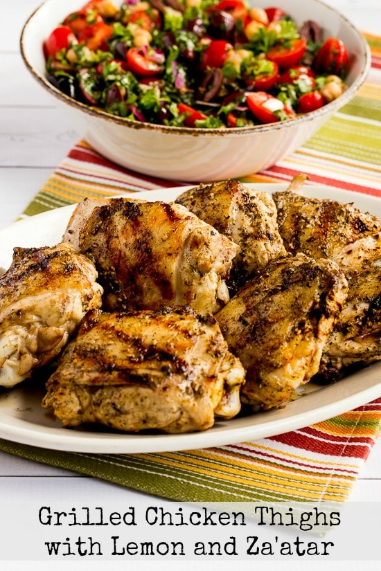 Grilled Chicken Thighs with Lemon and Za'atar