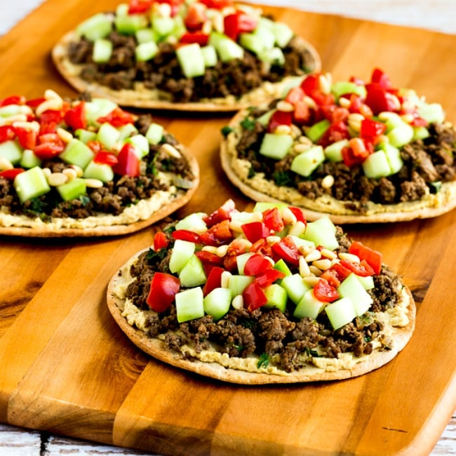 Middle Eastern Beef and Hummus Pita Rounds square thumbnail photo