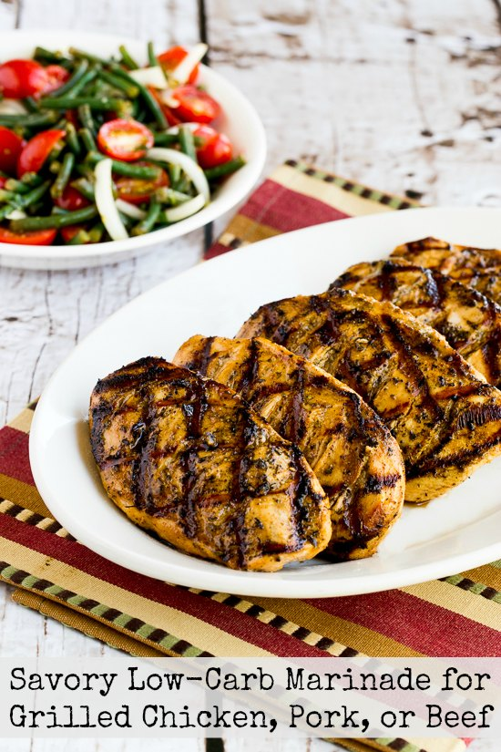 Savory Low Carb Marinade For Grilled Chicken Pork Or Beef