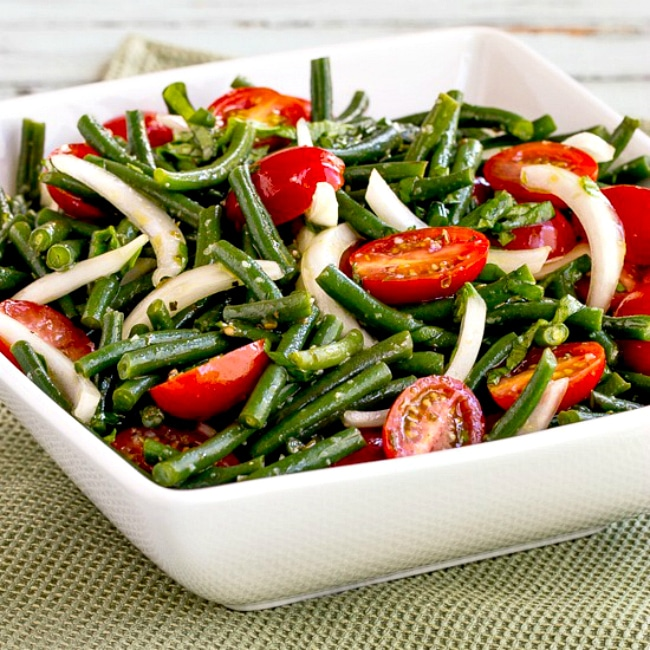 thumbnail photo of Green Bean and Tomato Salad in serving bowl