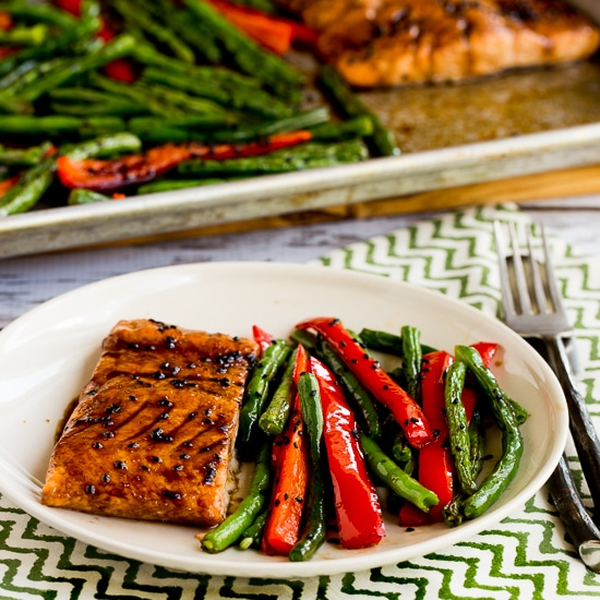 Roasted Asian Salmon and Green Beans Sheet Pan Meal thumbnail photo