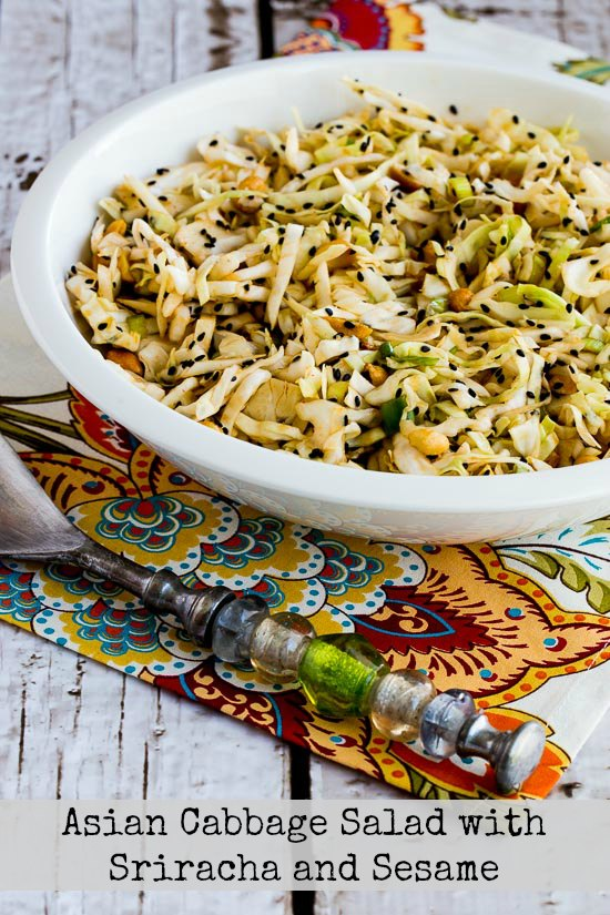 Asian Cabbage Salad  with Sriracha and Sesame