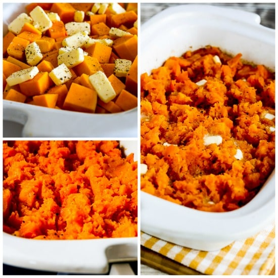 Slow Cooker Buttery Butternut Squash for a Crowd found on KalynsKitchen.com