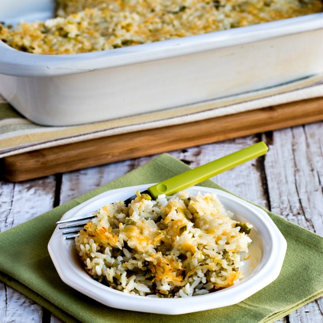 Slow Cooker Rice Casserole with Green Chiles and Cheese square thumbnail photo