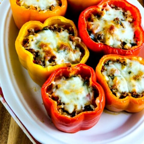 Low-Carb Cauliflower Rice Southwestern Stuffed Peppers