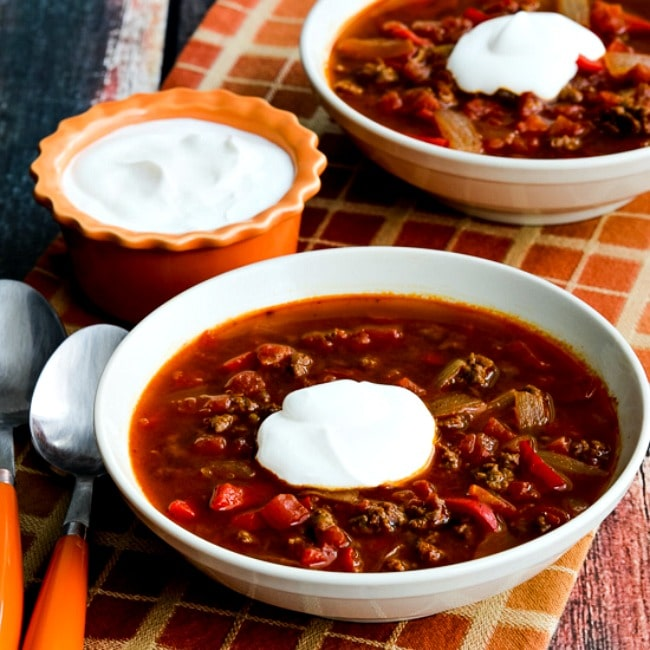 Instant Pot Low-Carb Goulash Soup with Ground Beef and Peppers thumbnail photo