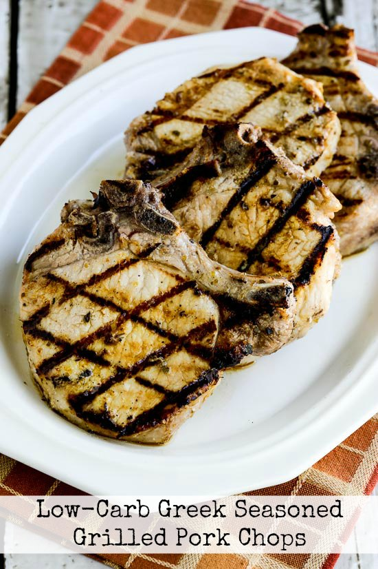 Low-Carb Greek-Seasoned Grilled Pork Chops with Lemon and Oregano