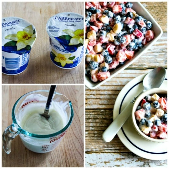 Easy, White, and Blueberry Salad found on KalynsKitchen.com