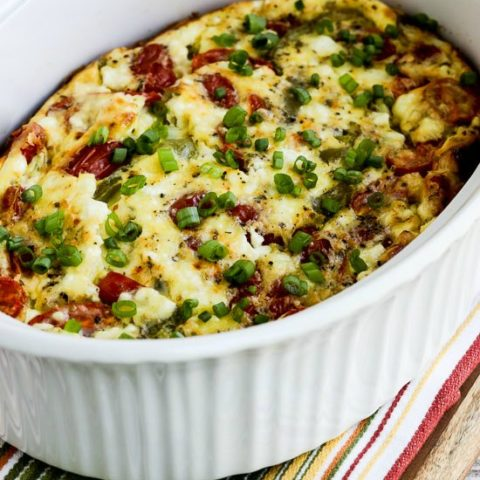 Roasted Green Pepper and Tomato Breakfast Casserole