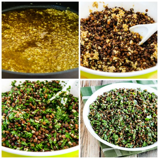 Lebanese Lentil Salad with Garlic and Herbs found on KalynsKitchen.com
