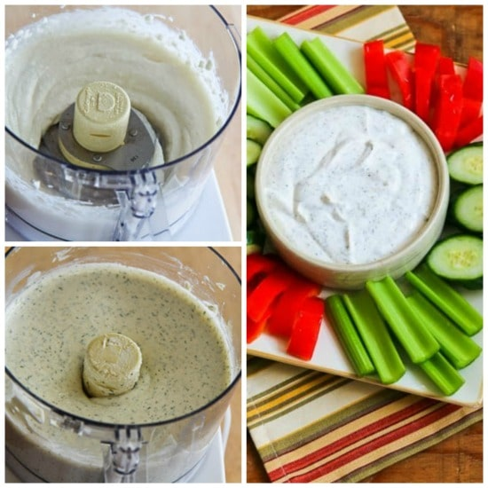 From-Scratch Diet-Friendly Ranch Dip with Greek Yogurt and Dill found on KalynsKitchen.com