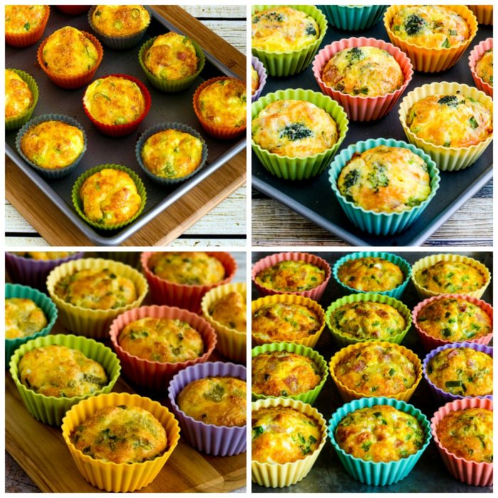 Low-Carb and Keto Egg Muffins (Master Recipe) photo collage