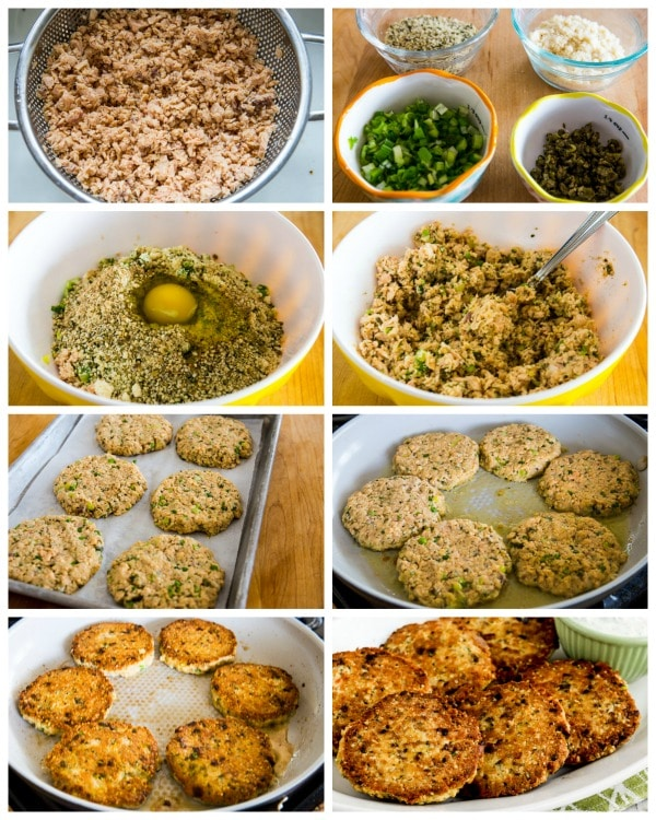 Low-Carb Salmon Patties process shots collage