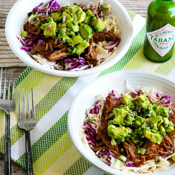 Low-Carb Green Chile Shredded Beef Cabbage Bowl thumbnail