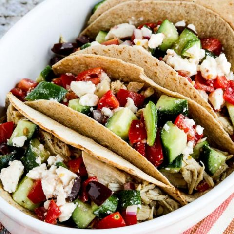 Instant Pot Low-Carb Greek Chicken Tacos