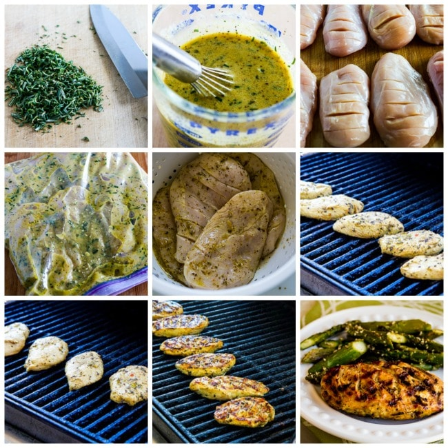Rosemary Mustard Grilled Chicken process shots collage
