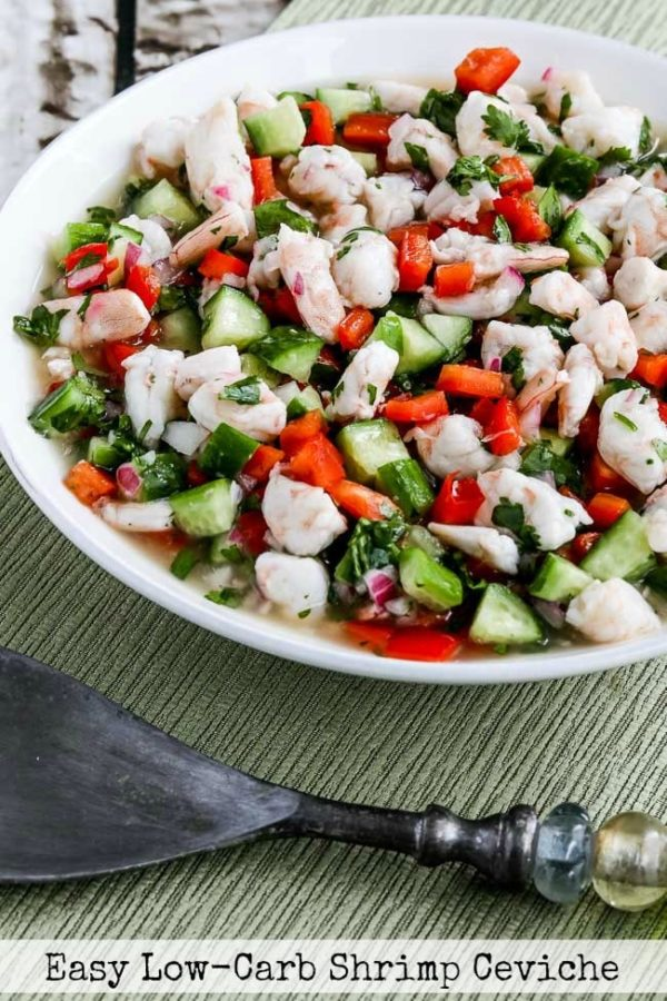 Easy Low-Carb Shrimp Ceviche found on KalynsKitchen.com