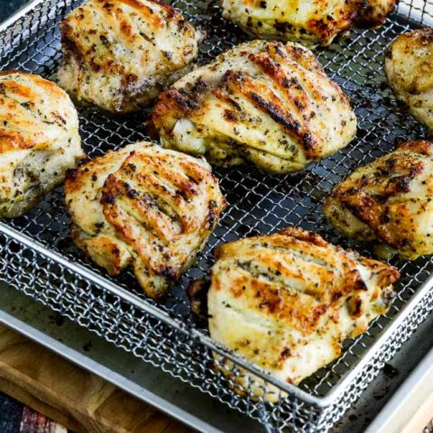 Low Carb Herb Marinated Air Fryer Or Oven Chicken Thighs Video Kalyn S Kitchen
