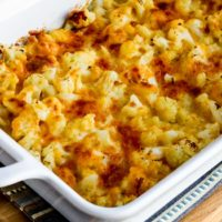 Easy Cheesy Baked Keto Cauliflower