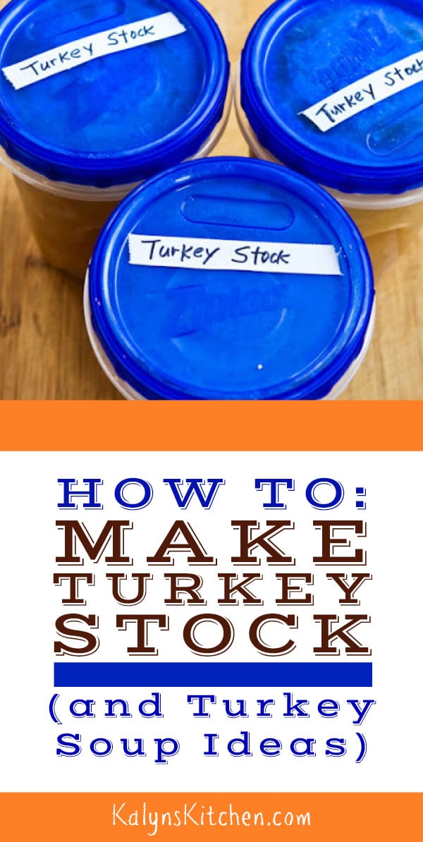 Pinterest image of How to Make Turkey Stock (and Turkey Soup Ideas)