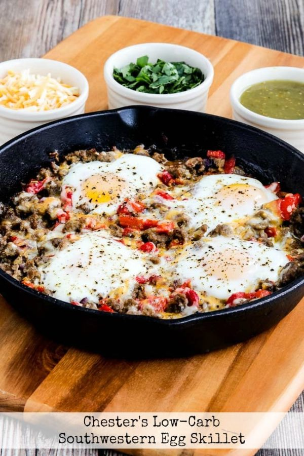 Chester's Low-Carb Southwestern Egg Skillet found on KalynsKitchen.com