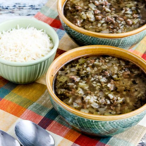 Instant Pot Low-Carb Ground Beef Cauliflower Soup