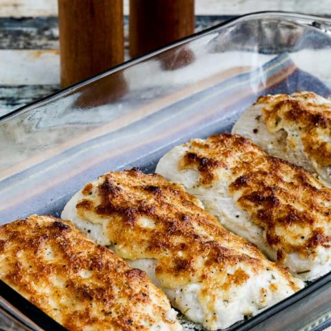 Easy Low-Carb Baked Mayo-Parmesan Fish