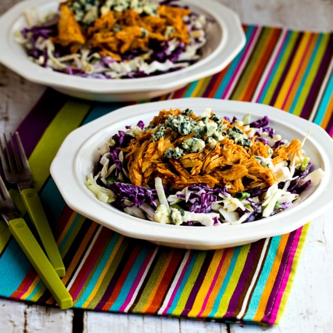 Buffalo Chicken and Blue Cheese Cabbage Bowl thumbnail photo