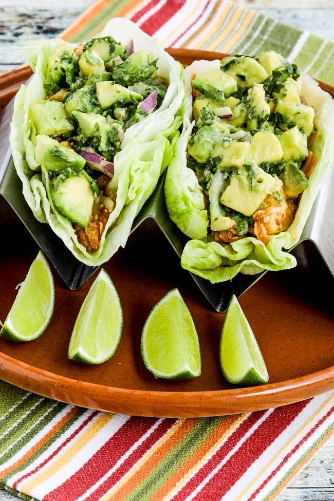 Spicy Shredded Chicken Lettuce Wrap Tacos Video Kalyn S Kitchen