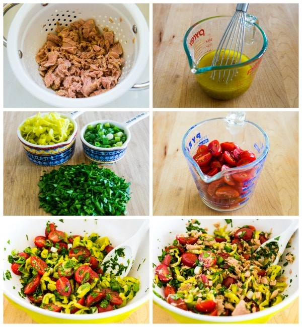 Spicy Tuna Salad with Peperoncini, Tomatoes, and Parsley