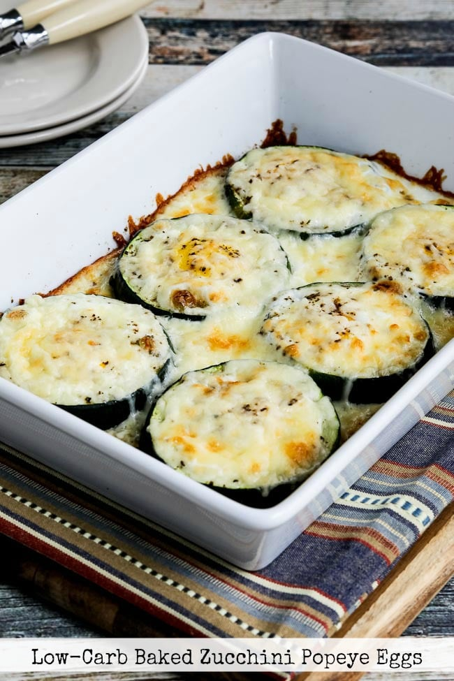 Title photo for Low-Carb Baked Zucchini Popeye Eggs