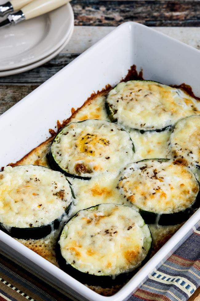 Close-up photo for Low-Carb Baked Zucchini Popeye Eggs
